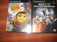 Playstation 2 Bee Movie Game & Fantastic Four Silver Surfer both brand new seale