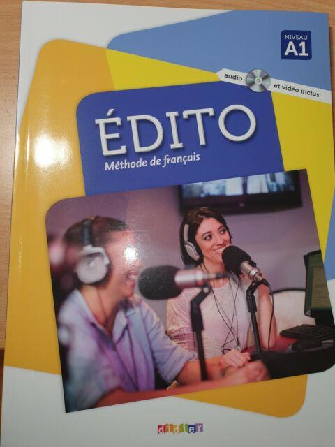 Édito Méthode de français (Didier 2016). Niveau A1 textbook and workbook