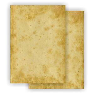 Motivpapier-ALTES-PAPIER-beidseitig-DIN-A4-MOTIV-Vintage-Papier-marmoriert-BFP-1