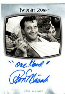 "2020 Twilight Zone Archives Inscription Autographs #AI25 Ron Masak  ""ONE HAND"""