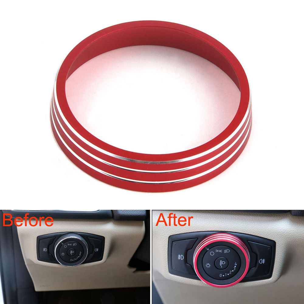 Headlight Switch Controller Knob Trim Cover Fit Ford Focus Edge Explorer Kuga