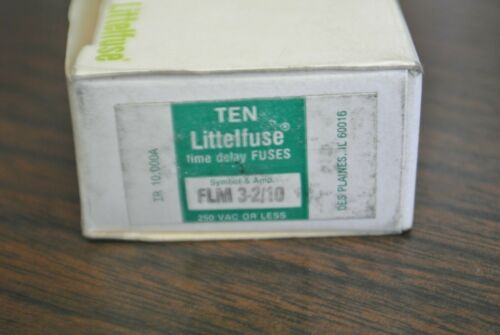 250V  NEW SURPLUS FLM-3-2//10 BOX of 10 3-2//10A LITTELFUSE FLM3-2//10  FUSE