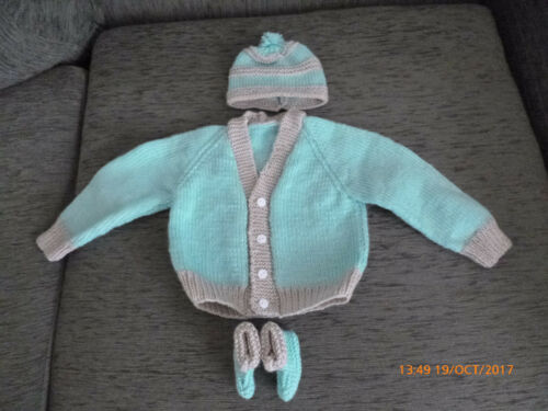 VARIOUS COLOURS 6-12 MONTHS HAND KNITTED BABY CARDIGANS