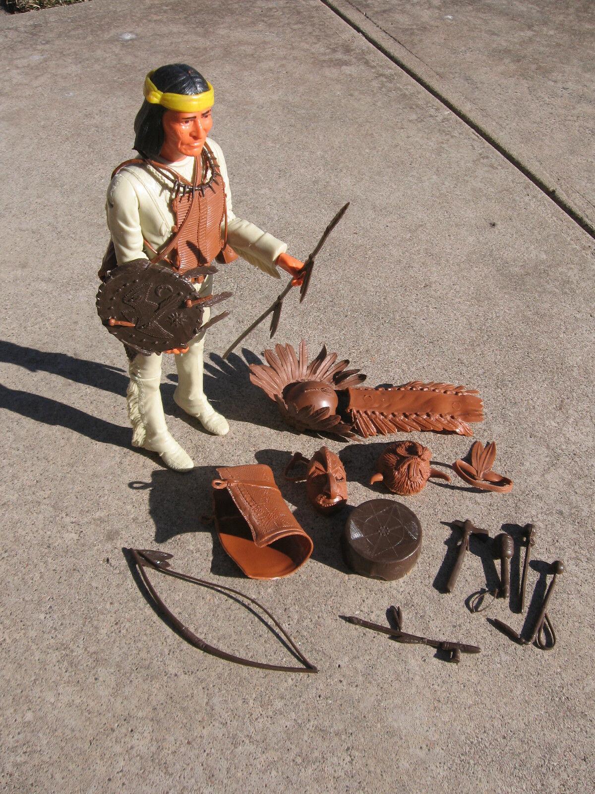 Marx Johnny West Geronimo Indio Con Diadema amarillo y accesorios