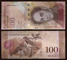 World Paper Money  Venezuela 100 Bolivares 2015 Series AR8 @ Crisp UNC
