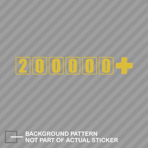 high 200000 Sticker Decal Vinyl jdm euro oem