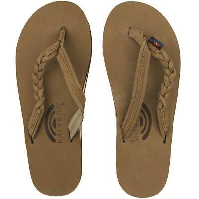 WOMENS RAINBOW LEATHER 301ALTSB Flirty Braidy Dark Brown Sandals All Sizes