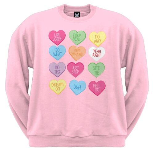 Valentine/'s Day Anti-Love Candy Hearts Crewneck