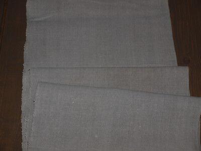 Yardage Antique Old Organic Natural Linen Flax Handwoven Homespun Fabric