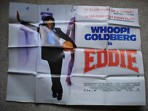 EDDIE-Original-film-poster-Whoopi-Goldberg-1990-039-s-UK-quad