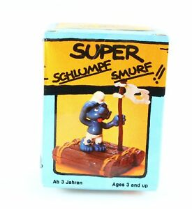 Figurine plastique Schtroumpfs (Les) Schtroumpf naufragé + boite