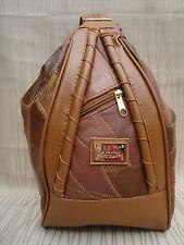 Leder Damenrucksack - Petchwork - cognac - Napparindleder - Cityrucksack