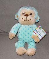 Garanimals Stuffed Plush Monkey Teal Turquoise Aqua Blue Polka Dot Spot Circle
