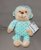Garanimals Stuffed Plush Monkey Teal Turquoise Aqua Blue Polka Dot Spot Circle