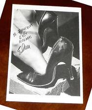 ELMER BATTERS Postkarte EROTIK Ak Fetisch BdSM HIGH HEELS Füße Feet Schuh