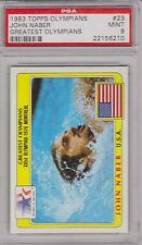 1983 TOPPS OLYMPIANS JOHN NABER CARD #23 ~ SWIMMING ~ PSA 9 ~ ONLY ONE HIGHER