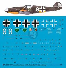 Peddinghaus 1/72 Bf 109 F-2 Markings Walter Nowotny 1./JG 54 Ryelbitzi 1942 3262