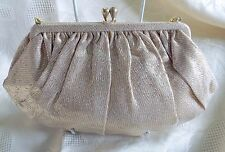 Vintage CFR gold and silver lame evening bag, unused