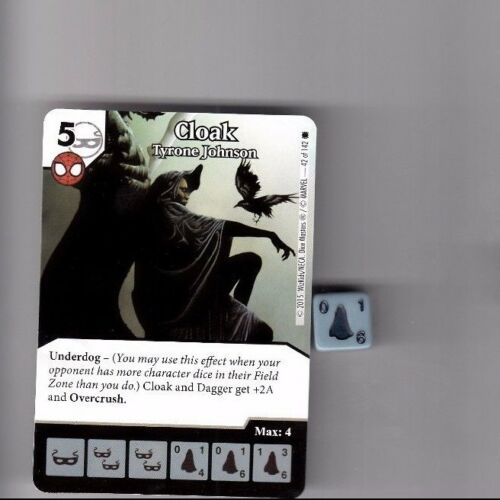 DICE MASTERS AMAZING SPIDER-MAN COMMON #42 CLOAK TYRONE JOHNSON WITH DICE