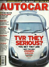 Autocar 30th December 2003, TVR Sagaris, BMW 645Ci, S500 L 7G, Rexton, EVO VIII