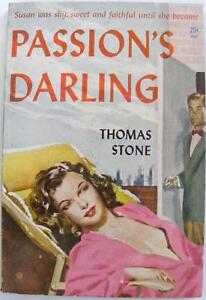PASSION-039-S-DARLING-104-THOMAS-STONE-1949-ROMANCE-PULP-PAPERBACK-NOVEL-BOOK