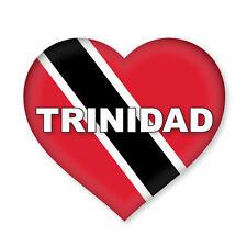 2 x Trinidad Heart Flag, car, van decal sticker