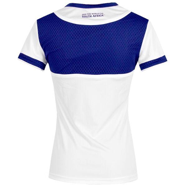 Adidas Damen Sport T-Shirt France Fitness Top Trikot Laufshirt Women weiss/blau