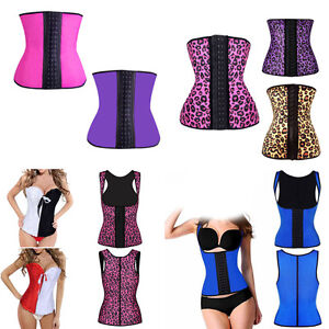 0cf20313cd7 Image is loading Womens-Latex-Rubber-Waist-Training-Cincher-Underbust-Corset -