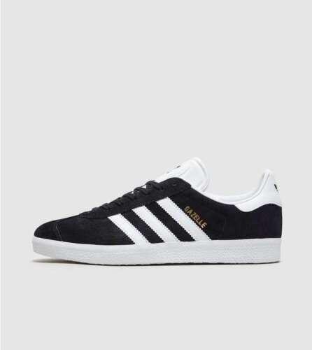 Black Adidas Gazelle Trainer's Size 10 Originals Uk white Mens nHnqvxaC