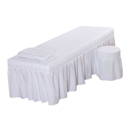 Hotel Massage Table Bedding Linen Skirt Beauty Valance Sheet 185x70cm White