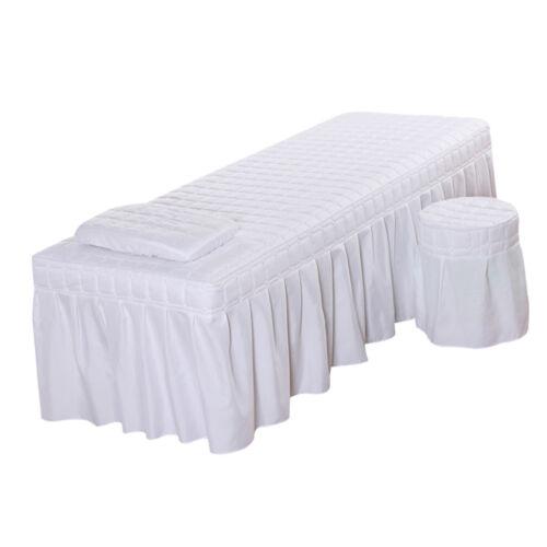 Hotel Massage Table Bedding Linen Skirt Beauty Valance Sheet 185x70cm White
