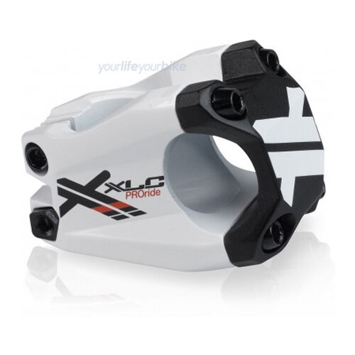 XLC Pro Ride f02 Potence 250 g 40 mm 31,8 mm Dirt Jump Freeride alpin Enduro Blanc
