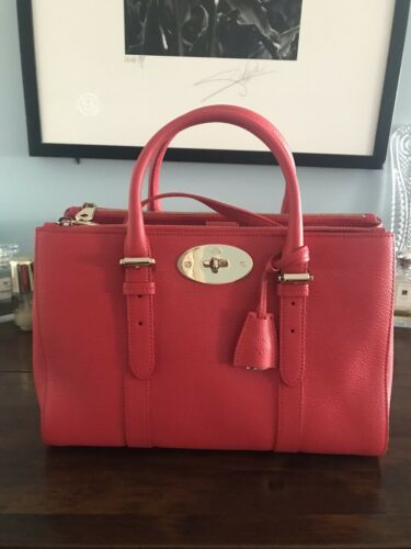 New Small Bayswater Mulberry Hibiscus Zip ❤️ Double Tote waqxYHAp