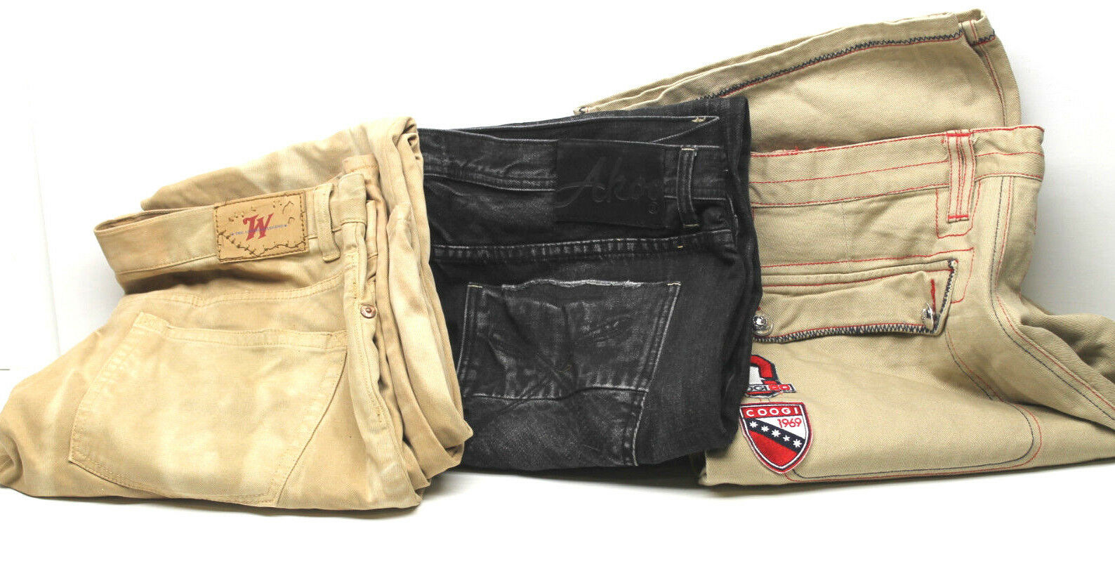 3 Pair 40 Waist Coogi Shorts + AKOO Distressed Jeans + Winchester Denim Big Man