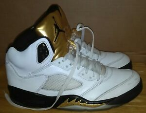 hot sale online 6c26e 2a191 Image is loading Nike-Air-Jordan-5-Retro-Gold-Medal-Olympic-