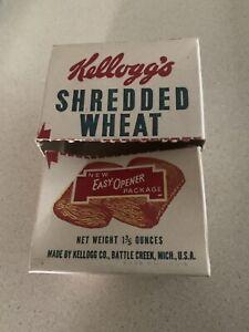 Rare Vtg Kellogg's Shredded Wheat Diner Restaurant Individual Cereal Box 1930's