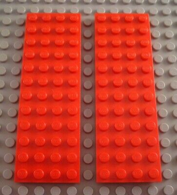 LEGO Lot of 2 Red 4x12 Plate Pieces