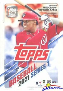 2021 Topps Series 1 Baseball EXCLUSIVE HUGE Factory Sealed 67 Card HANGER Box