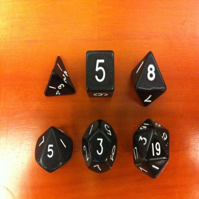 6-Dice D4 D6 D8 D10 D12 D20 Magic-the-Gathering MTG D&D RPG Poly Game Set Toys