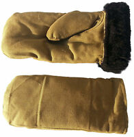 Russian Army Sheepskin Lambskin Fur Winter Mittens. Made In Ussr. Warm