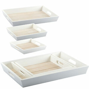 3 sizes deco tray wooden tray decoration shabby chic. Black Bedroom Furniture Sets. Home Design Ideas