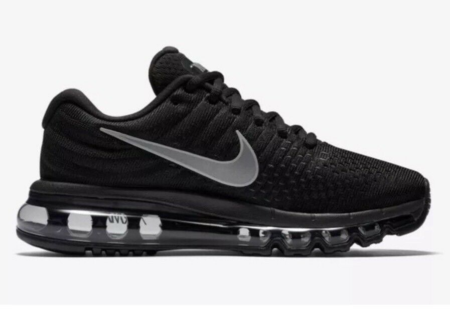 Nike Air Max 2017 Sz 7 Black Anthracite Womens Running Shoes NEW 849560 001