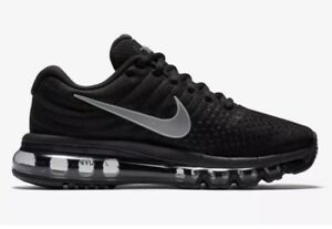Nike Air Max 2017 Black Anthracite Womens Running Shoes Sz 6 NEW 849560 001