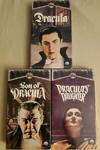 Universal-Monsters-VHS-X-3-Dracula-Son-Of-Dracula-Dracula-039-s-Daughter