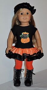 AMERICAN-MADE-DOLL-CLOTHES-FOR-18-INCH-GIRL-DOLLS-DRESS-LOT-PUMPKIN-DRESS