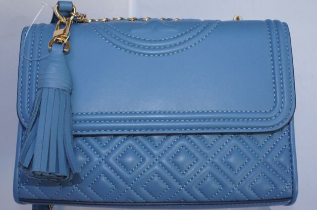 59fe4767f69 Tory Burch Fleming Small Convertible Shoulder Bag Blue Crossbody for ...