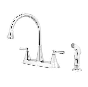 Details about PFISTER CANTARA F-036-4CRC 2 HANDLE KITCHEN FAUCET