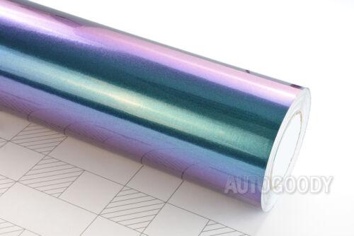 "72/"" x 60/"" Gloss Metallic Chameleon Purple Teal Vinyl Film Wrap Air Bubble Free"