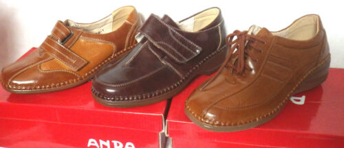 brown ladies shoes leather lined wedge heel lace or vely made by anda shoes