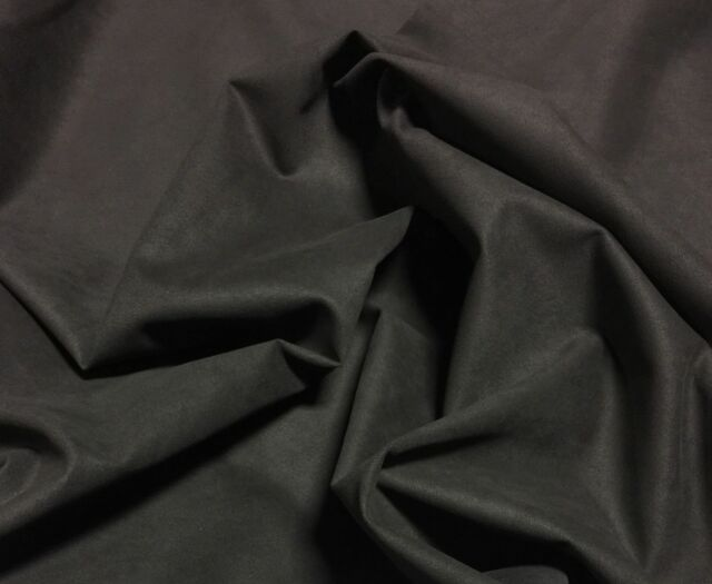 "Black Automotive Upholstery Suede Fabric 65"" Wide - Microsuede - Headliner"